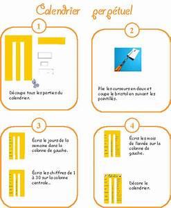 Fabriquer Un Calendrier Perpétuel : imprimer le mode d 39 emploi du calendrier perp tuel rectangle suite t te modeler ~ Melissatoandfro.com Idées de Décoration