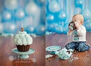 Streamers and balloons as a backdrop...first birthday ...