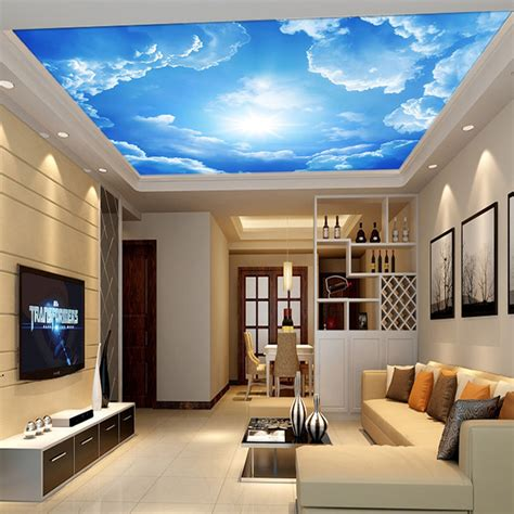 3d Wallpaper Deco by Modern 3d Photo Wallpaper Blue Sky And White Clouds Wall