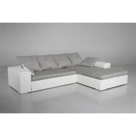 canape blanc gris photos canapé gris et blanc cdiscount
