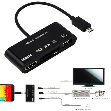 usb otg hdmi 5 in 1 micro 11p 11 pin micro usb to hdmi converter cable