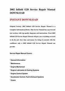 2002 Infiniti G20 Service Repair Manual Download By