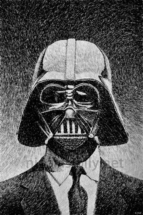 Dark vador (Star Wars) - Portrait. Par Nicolas Jolly