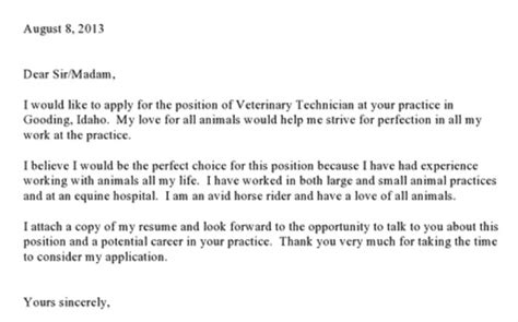 best photos of veterinary technician resume cover letter
