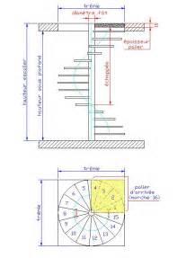 Dimensions Escalier Helicoidal dimensions d un escalier