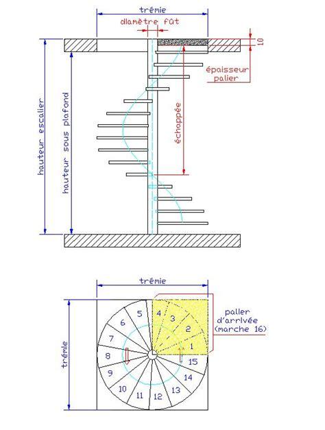 Escalier Colimaçon Dimension Minimum by Dimensions D Un Escalier