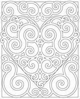 Coloring Pages Pattern Heart Adults Patterns Mandala Abstract Swirl Hearts Fun Designs Teens Colouring Printable Teen Colors Mandalas Swirly Para sketch template
