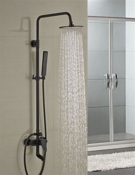 Shower Tap - milo style rubbed bronze shower faucet set