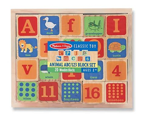 animal abc  wooden blocks set  melissa  doug