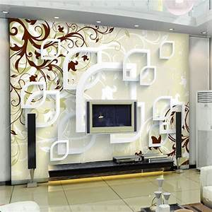 large abstract wall murals 3d wallpaper for living room tv With full design for room wall