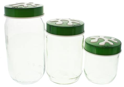 glass kitchen canister sets glass kitchen canister set green at mighty ape nz