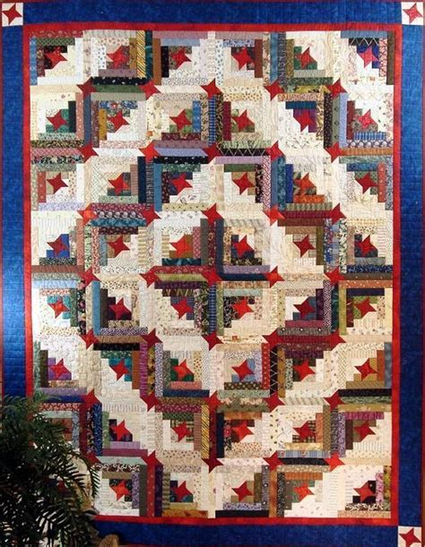 log cabin quilt pattern stars make this scrappy log cabin quilt special quilting digest
