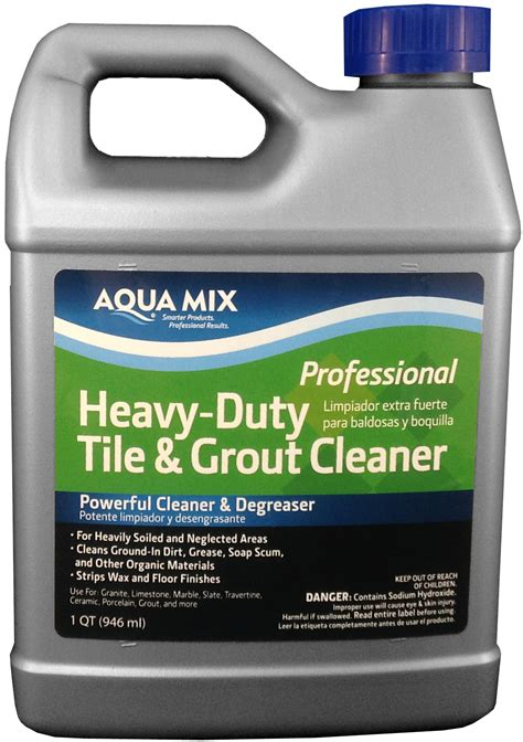 aqua mix heavy duty tile and grout cleaner quart ebay