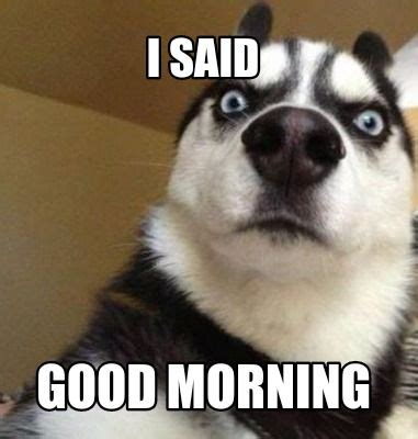 Funny Morning Memes - i said good morning tap to see more of the top funniest morning memes mobile9 funny