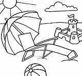 Coloring Beach Pages Scene Drawing Scenes Coloringnow Summer Umbrella Adult Getcoloringpages Getdrawings Enregistree Depuis sketch template