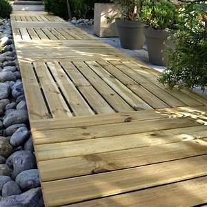 Terrasse Bois Sur Terre : terrasse bois sur terre castorama nos conseils ~ Dailycaller-alerts.com Idées de Décoration