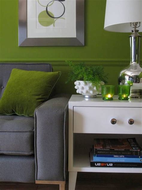green and gray walls green wall with gray couch a faire pinterest