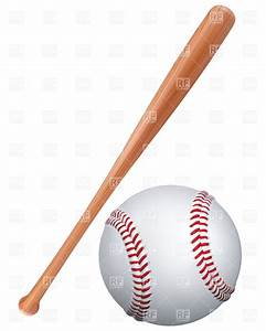 Baseball bat and ball Royalty Free Vector Clip Art Image ...