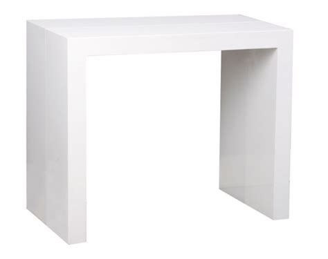 table console extensible 3 allonges laquee blanc