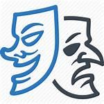 Theatre Drama Mask Icon Comedy Masks Sad