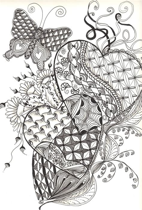 zentangle hearts friday september   heart