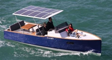 Electric Pleasure Boat by New Solar Powered Family Pleasure Boat Debuts Earthtechling