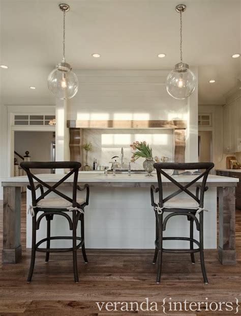 Paneled Kitchen Island   Transitional   kitchen   Veranda