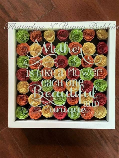 mother quote  rolled flower shadow box mothers