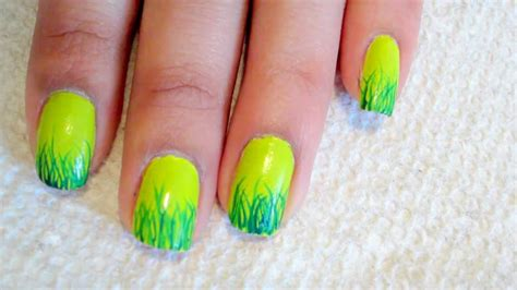 Grass French Tip Nail Art