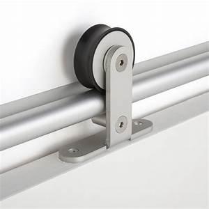 rail coulissant bolero 2 aluminium pour porte de largeur With rail pour volet coulissant exterieur