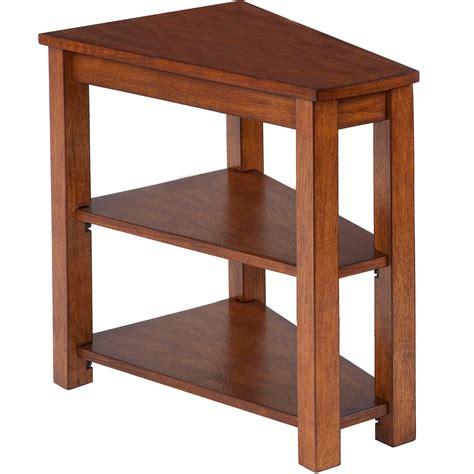 chairside table  shelf  brown progressive