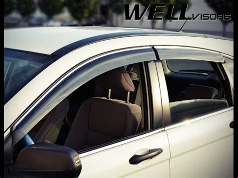 wellvisors side window deflectors installation video honda