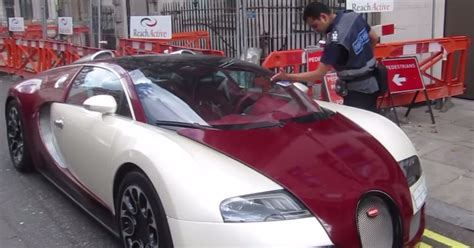 Bugatti On The Streets by Bugatti Veyron Slapped With Parking After Driver