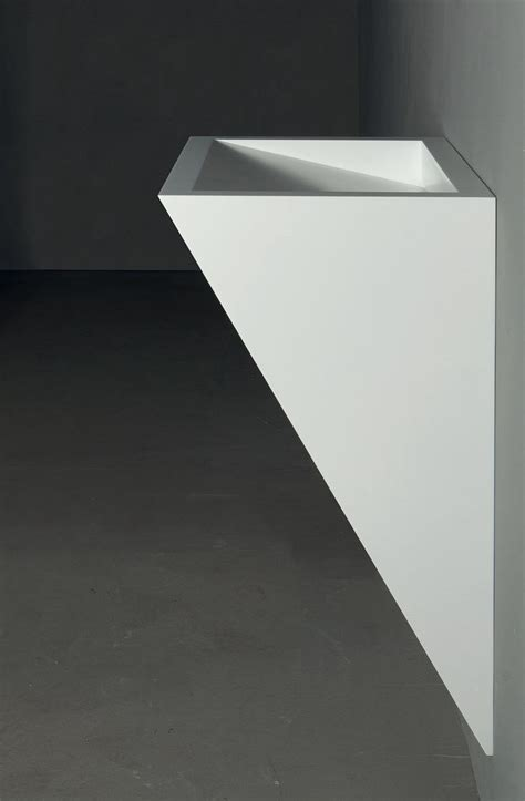 lavandini in corian wall mounted corian 174 washbasin gap to wall 06 by rifra