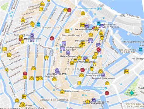 Bateaux Mouche Windsor by Carte D Amsterdam Avec Tous Les Lieux Du Guide Vanupied