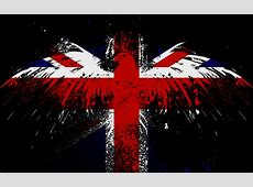 Hawk on the English Flag Download HD Wallpapers