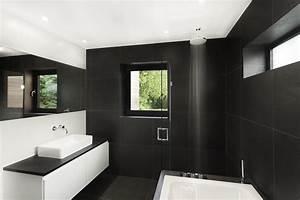 Salle De Bain Noire Et Blanche : salle de bain noir blanc pur e ~ Melissatoandfro.com Idées de Décoration