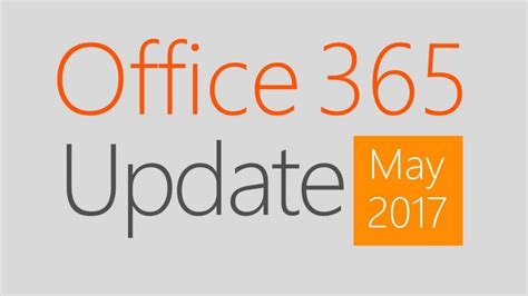 Office 365 Update May 2017  Office 365 Update Series