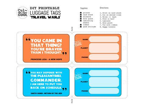 diy printable luggage tags travel wars