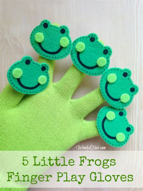 Five Little Frogs Finger Play Glove