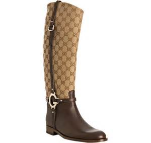 gucci beige gg canvas boots in lyst