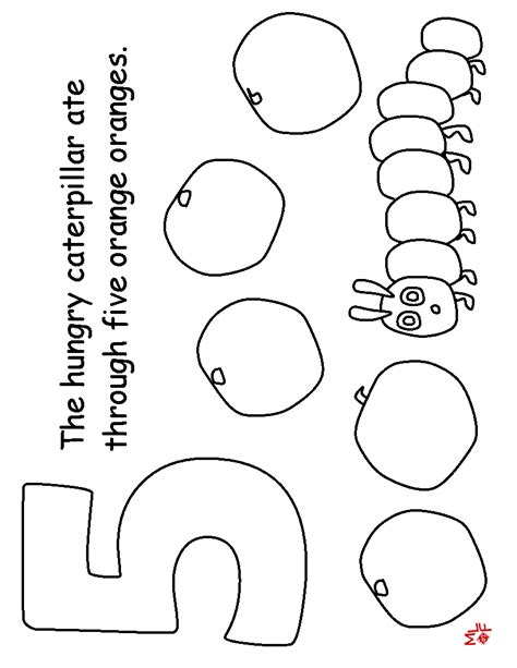 hungry caterpillar colouring pages hungry