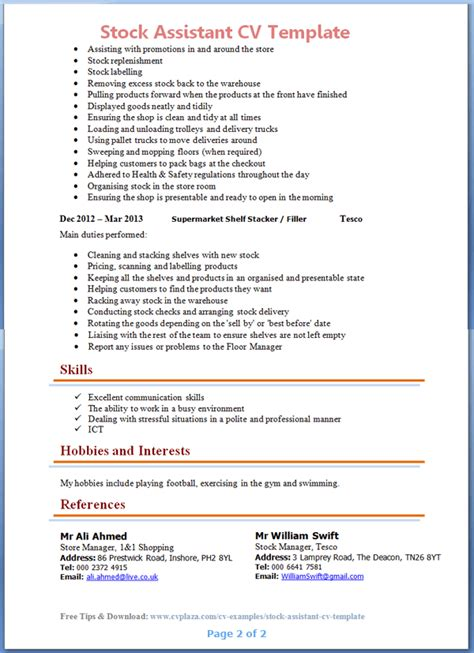 resume   post  personal assistant