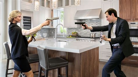 Jared And Ivanka Holding Each Other At Gunpoint In Kitchen