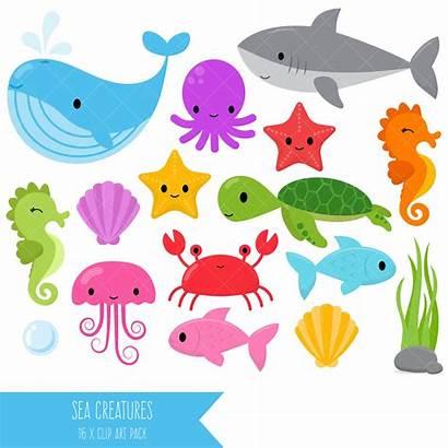 Clipart Sea Clip Shark Creatures Under Creature