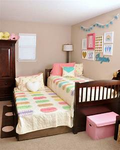 Pink Teal Macaron Heart Themed Girls Room Ideas