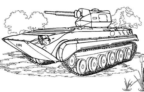 coloriage  dessiner tank militaire