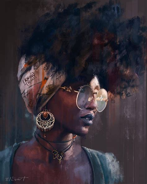 pin  cenceara allen  dopeness female art black girl