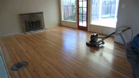 Buffing Hardwood Floor   YouTube