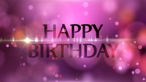 happy birthday motion graphics background light